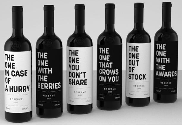 Opvallende etiketten voor wijnflessen