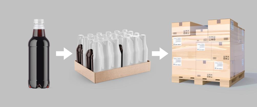 Illustratie verschillende soorten verpakkingen